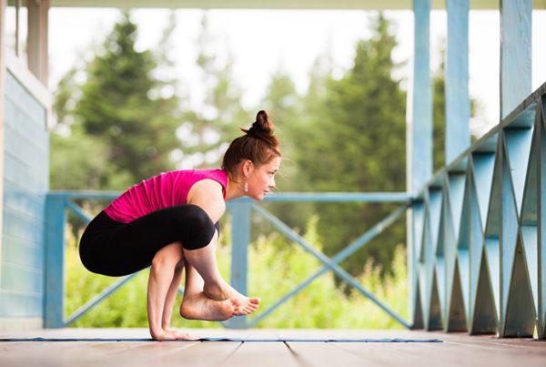йога поза баланс