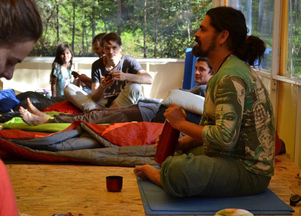 Журавлев, семинар по йоге на Ладоге, фото